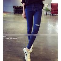 quần skinny dài rách Mã: QD1302 - XANH
