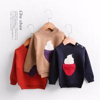 Áo len cổ tròn cho bé gái từ 1 đến 4 tuổi - AL3069