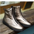 giày boot nam dây kéo Mã: GH0434 - VÀNG CÁT