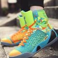 giày thể thao cổ cao phối màu Mã: GH0451 - XANH LÁ