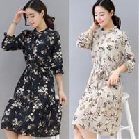 Đầm voan họa tiết thanh lịch - hàng nhập Quảng Châu cao cấp