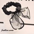 dây buộc tóc thời trang organza vải silk đính ngọc trai