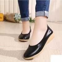 Giày búp bê nữ da trơn cao cấp - LN1090
