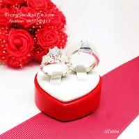 Nhẫn Đôi cành hồng