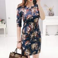 Đầm hoa 3d