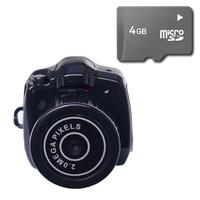 Bộ 1 Camera móc khóa Siêu Nhỏ MiniDV Hola - Đen và 1 Thẻ nhớ 4Gb