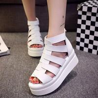 S021T - Giày sandal đế xuồng phong cách Hàn Quốc