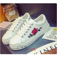 Giày Bata Nữ Thêu Hoa