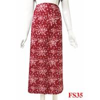 Váy chống nắng-nền đỏ đô bông tuyết