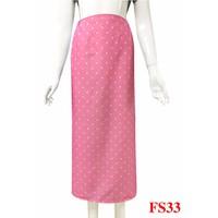 Váy chống nắng-nền hồng sao trắng