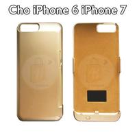 Ốp sạc dự phòng kiêm giá đỡ điện thoại iPhone 6 iPhone 7 màu Vàng