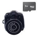 Bộ 1 Camera móc khóa Mini DV màu Đen kèm Thẻ nhớ 8Gb