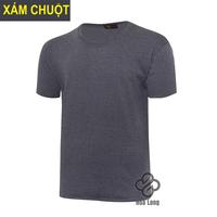 áo thun trơn cotton nam, nữ đẹp giá rẻ Xám Chuột