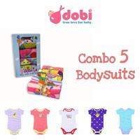 Set 5 Bodysuit Bé Gái Cao Cấp Dobi
