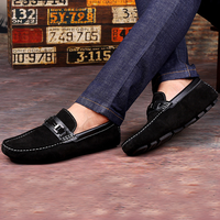 Giày lười nam da lộn cao cấp, da thật mẫu mới 2017 ZS063
