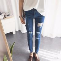 quần jeans skinny rách tua Mã: QD1286