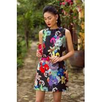 Đầm suông họa tiết hoa sang chảnh - NR167