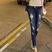 quần jeans skinny rách Mã: QD1365