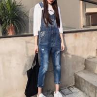 quần jeans yếm rách cá tính Mã: QD1367