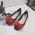 Giày nhựa đi mưa - Màu Đen nơ đỏ