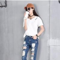quần jeans skinny rách lỗ Mã: QD1334 - XANH ĐẬM