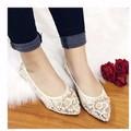 giày búp bê ren hoa 1541