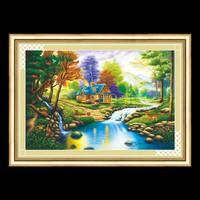 Tranh thêu chữ thập phong cảnh 53210 - 80x50cm