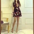 Đầm Xòe In Hoa