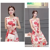 Đầm voan hoa mùa hè cao cấp - hàng nhập Quảng Châu