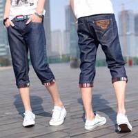Quần short jeans lửng nam-QS8