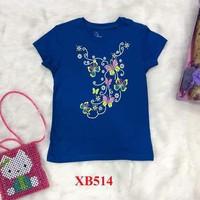 Áo cotton trẻ em họa tiết hoa