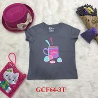 Áo cotton trẻ em ghi cafe 3T