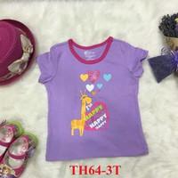 Áo cotton trẻ em 6M-4T họa tiết tim hươu