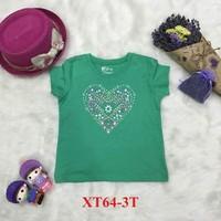 Áo cotton trẻ em 6M-4T hình tim