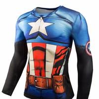 áo thun 3d captain american Mã: NT1605