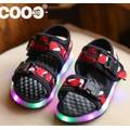 Giày bé trai sandal 2 quai ngang có đèn