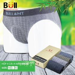 Combo 4 chiếc quần lót Nam dệt từ sợi tre - Hàng cao cấp