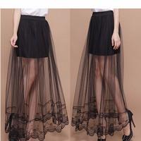 chân váy lưới xuyên thấu hoa văn Mã: VN527