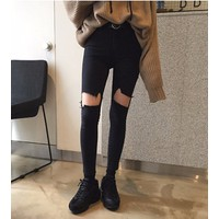 quần skinny rách lỗ Mã: QD1407
