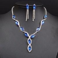 Bộ trang sức nữ đính đá màu - VK025