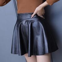Váy ngắn nữ giả da thời trang - V002