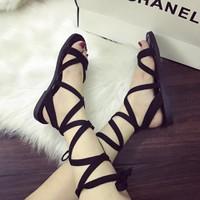 Giay sandal cột dây