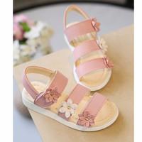 Sandal bé gái màu hồng đính nơ 2 đến 10 tuổi
