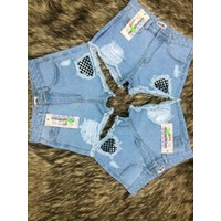 short jeans lưới