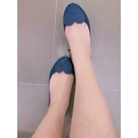 Giày búp bê nhựa dẻo trái tim - Hàng Nhập