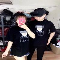 Áo thun tay lỡ Hàn Quốc có mũ form rộng unisex