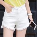 Quần shorts jean trắng năng động