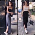 áo kèm quần chân váy maxi cao cấp