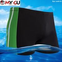 Quần bơi nam thể thao QB02 - Sọc xanh lá
