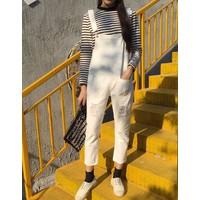 quần yếm dài rách Mã: QD1412 - TRẮNG